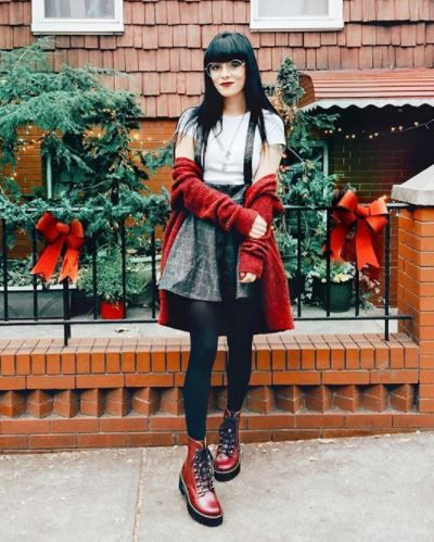 23ac2f1ae243 jaglever wears the Leona Vintage Smooth boot in Oxblood.  drmartensstyle