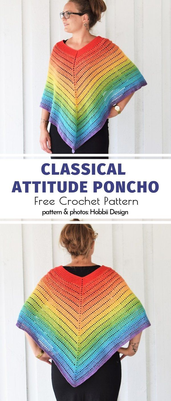 Light Crochet Ponchos Free Patterns