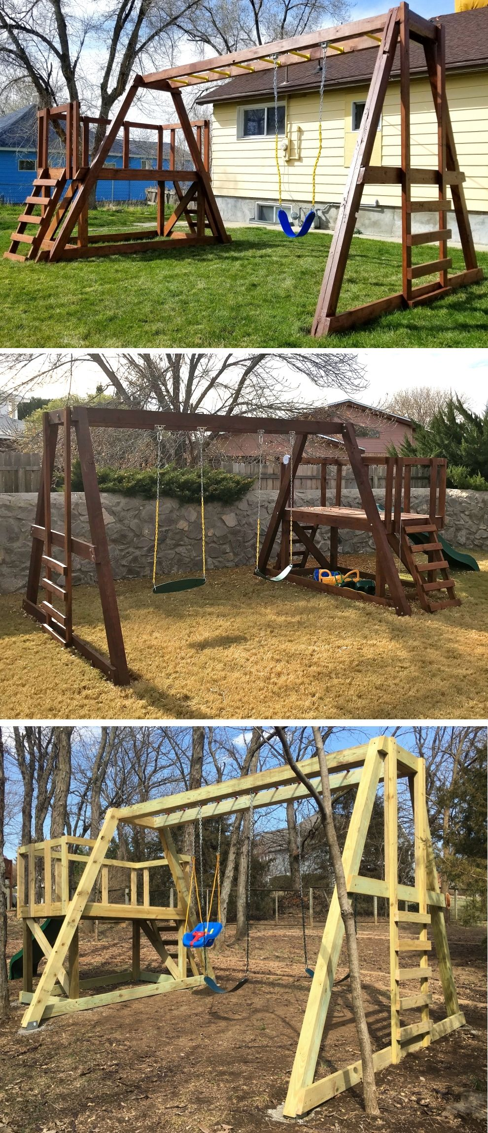 Paul S Swingset Swing Sets For Kids Swing Set Diy Swing Set Plans
