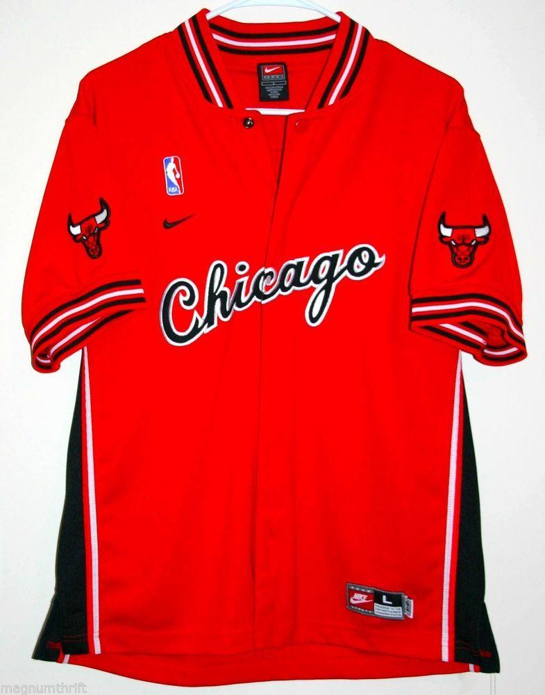 37e2b5d52e3  Vintage NBA  Nike Chicago Bulls Warm Up Jersey Size Large  ChicagoBulls   ebay