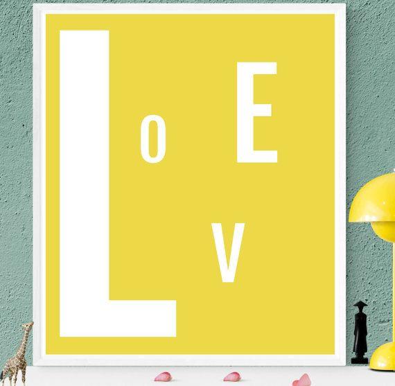 Yellow wall art, Affiche scandinave, large minimalist art ...