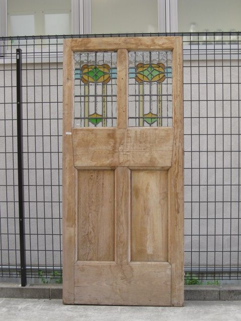 ステンドドア アンティークステンドグラス アンティークドア