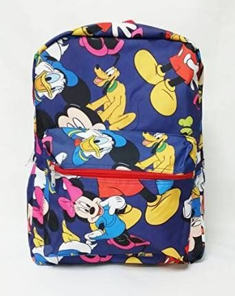 ddfd558b0b Disney Mickey Mouse 16 All Over Printed Backpack School Book Bag     See  this great product.