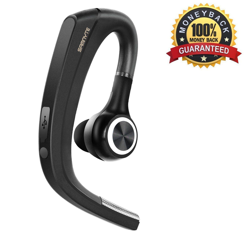 New] Bluetooth Headset, 4 1 Wireless Bluetooth Earpiece Handy Car