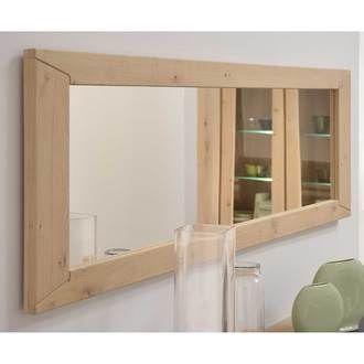 Miroir mural rectangulaire en bois L186xP3xH56cm BRUTS
