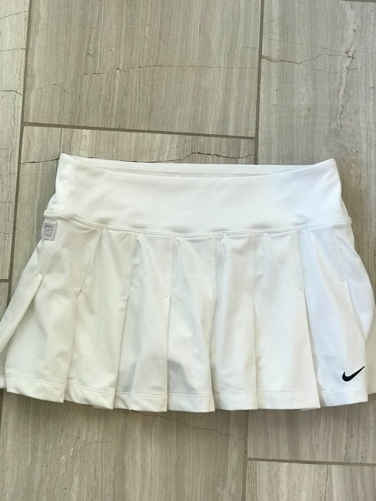 Nike White Tennis Skirt Fashion Clothing Shoes Accessories Womensclothing Activewear Ebay Link Tennis Skirts Tennis Skirt White Tennis Skirt