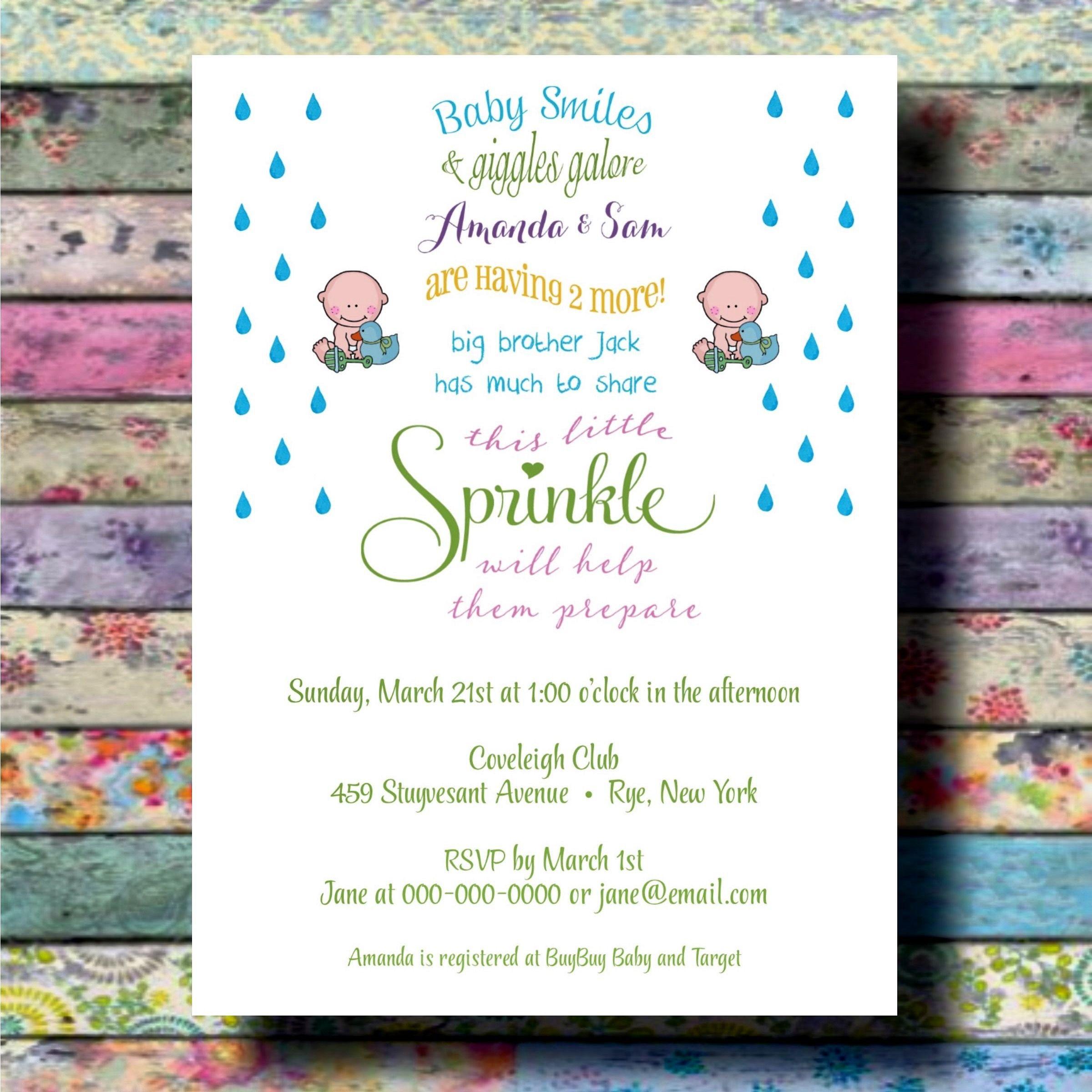 Sprinkle Baby Shower Invitations notesbydiane.com
