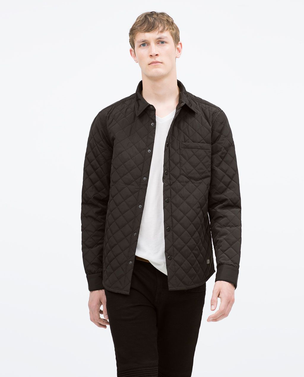 Zara Man Quilted Jacket Quilted Jacket Shirt Jacket