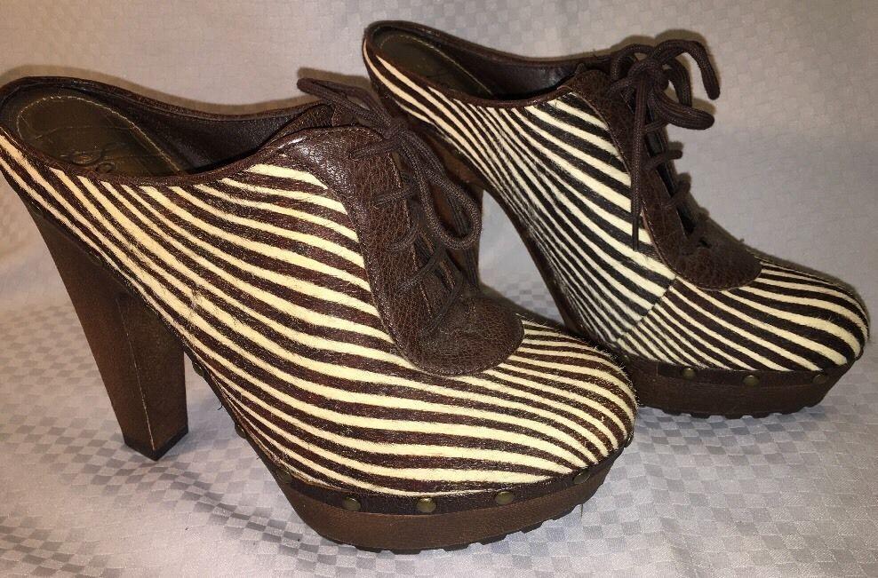 Sam Edelman Women's Heels Zebra Stripe FAYE 10M  Fuzzy Furry NWOB  | eBay