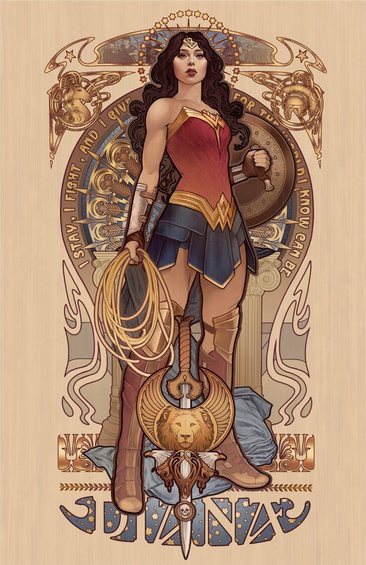 Diana signé tirages d'art | Wonder woman art, Dessin