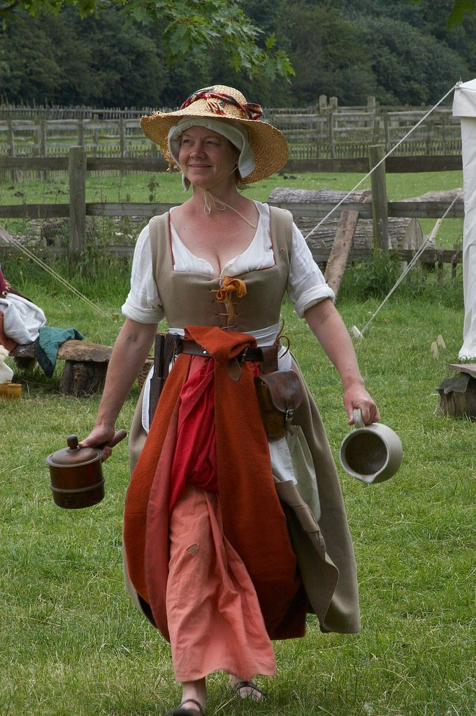 Tudor Farm Wife, Kentwell 1578 Tudor costumes, 16th