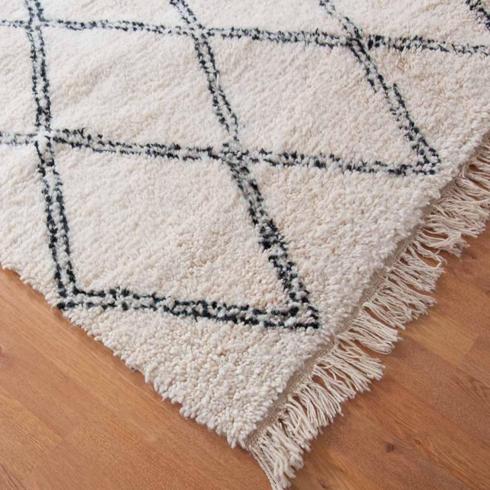 Beni Ouarain Teppich Wollteppich Aus Marokko Orientalische Wohnaccessoires Milanari Com Teppich Berber Teppich Wollteppich