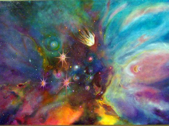Original Painting UNKNOWN GALAXY Colorful by NonisEclecticShop, $400.00