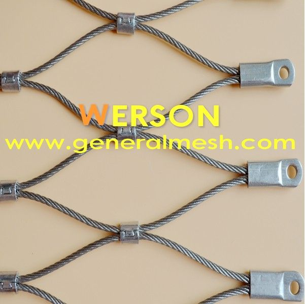architectural mesh,stainless steel webnet aviary, ferrule type ...