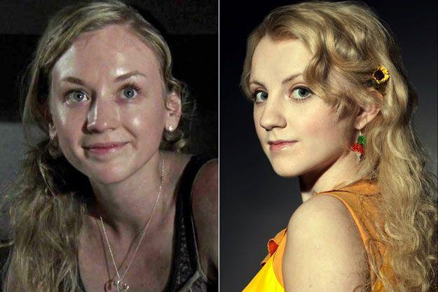 Beth Greene Of Walking Dead Luna Lovegood Of Harry Potter Dead Ringers Beth Greene Emily Kinney Luna Lovegood