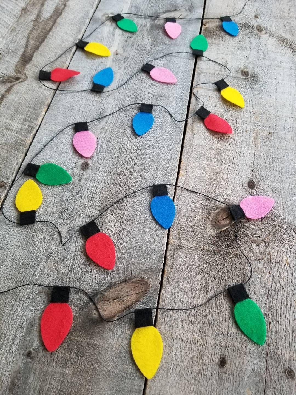 Christmas Lights Garland Custom Colors Kids Christmas Decor Kids Christmas Tr In 2020 Christmas Lights Garland Diy Christmas Garland Christmas Decorations For Kids