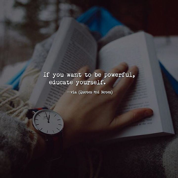 If you want to be powerful educate yourself. via (http://ift.tt/2qM1Vhv)