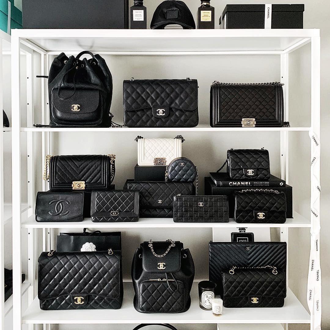 Chanel Classic Bag Closets I Love This Closet Always Dte Bag Chanel Classic Closets Designerhan In 2020 Chanel Bag Classic Chanel Bag Bags Designer