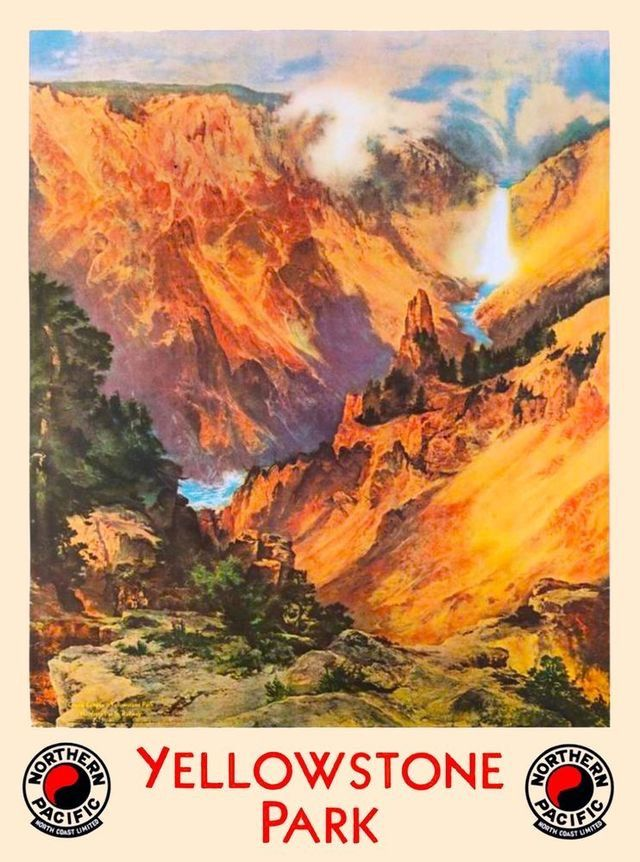 Image result for northern pacific yellowstone park line poster