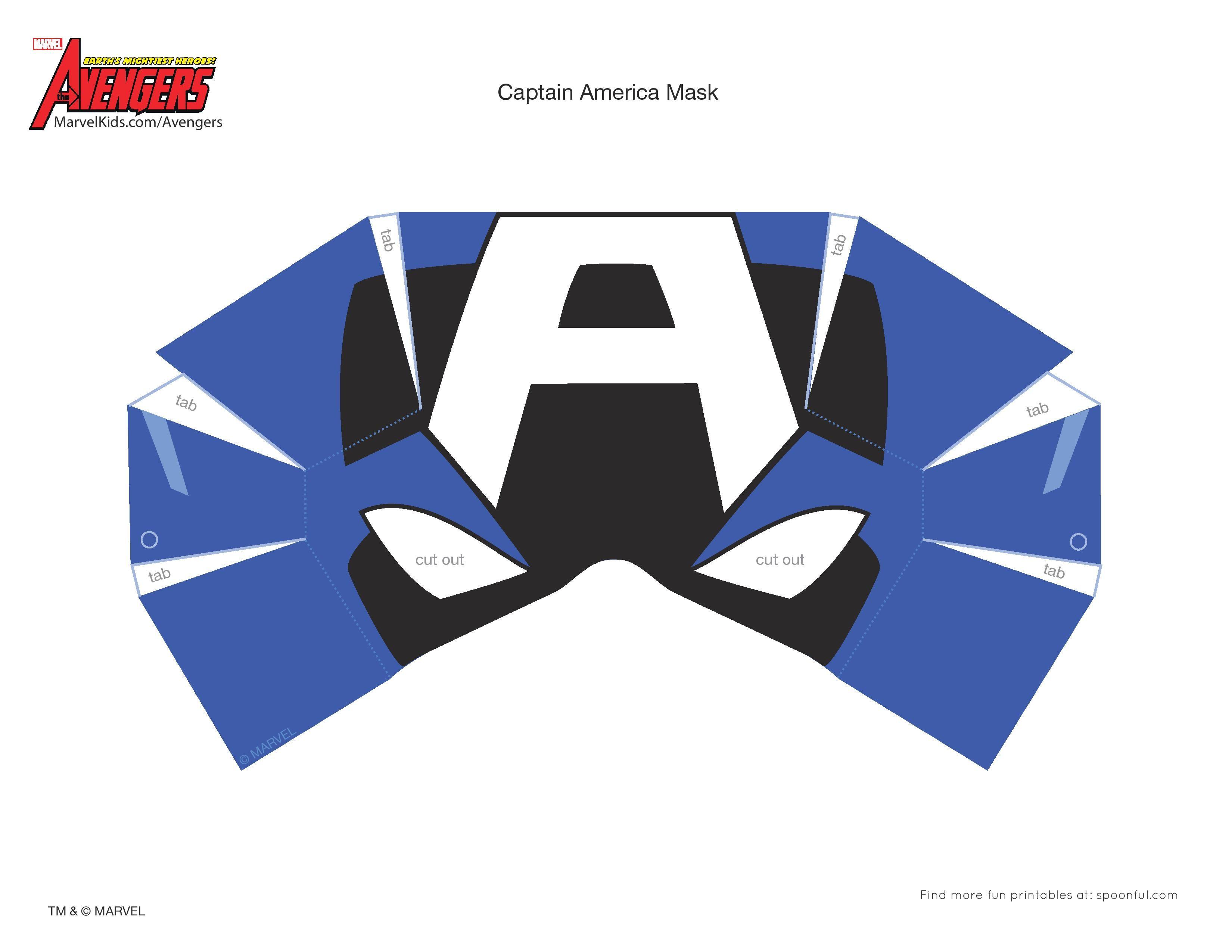 Fabulosa máscara de Capitán América para todos los niños que aman a ...