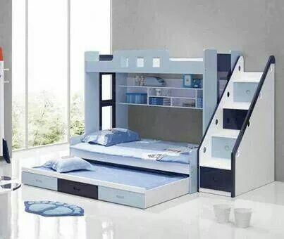 Bunk Beds With Storage And A Pull Out Bed Decorating Pinterest