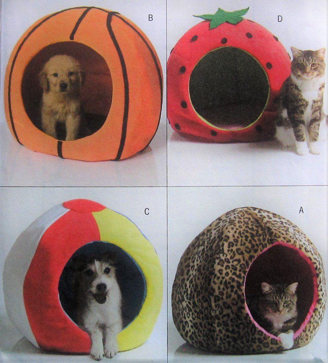 Pet Bed Sewing Pattern Butterick B4949 UNCUT cat dog beds
