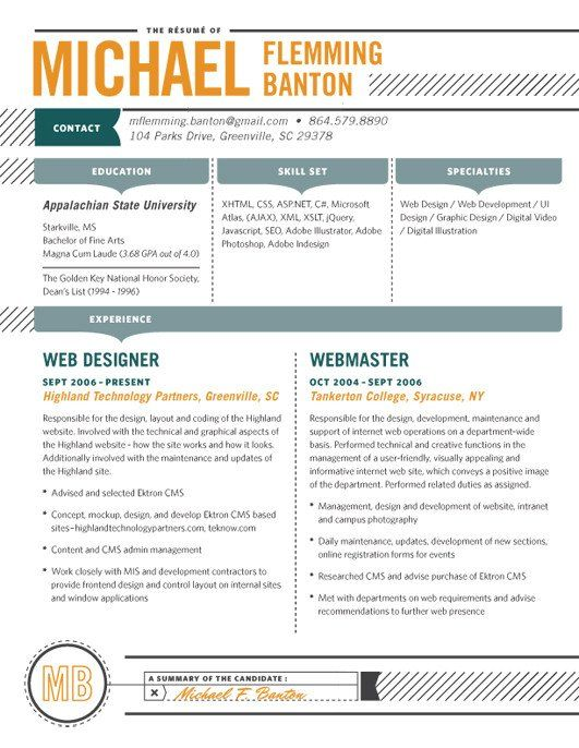 Detailed CV collection Pinterest Resume Design, Resume design