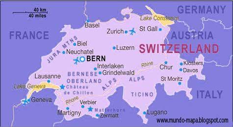 Mapa Politico De Suiza.Suiza Mapa Geografi Politico Mapas Suiza Y Mapa Fisico