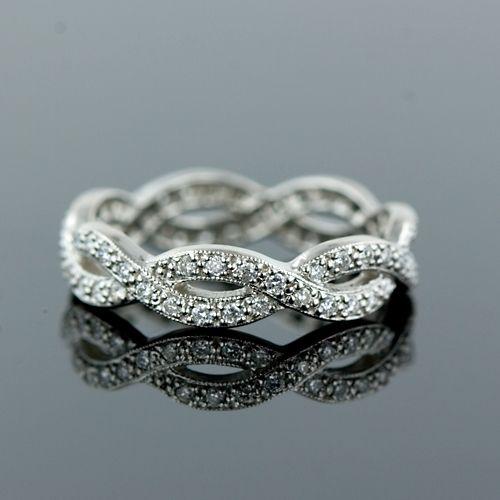 Diamond Braid Style Eternity Band Right Hand Rings Beautiful Jewelry Jewelry