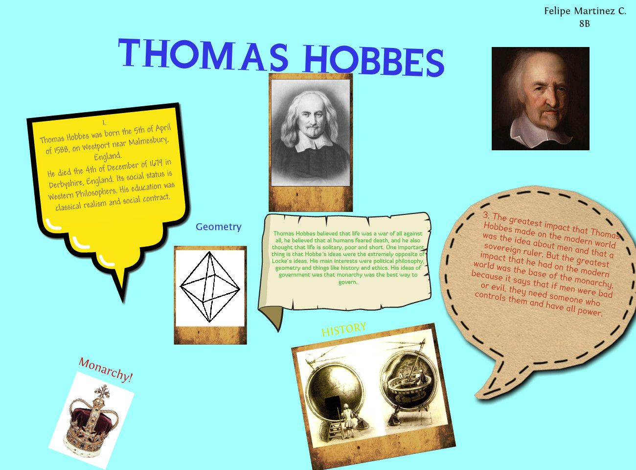 thomas hobbes essay example Thomas hobbes argues that in a state of nature there is no community between men because in the leviathan, hobbes fully believes that a sovereign is needed in order to have complete harmony for example, a law that is heavily enforced and has a severe punishment is driving under the influence.