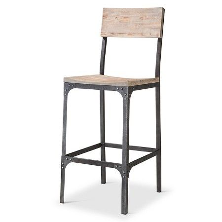 Franklin 29 Quot Barstool Steel X2f Natural The Industrial