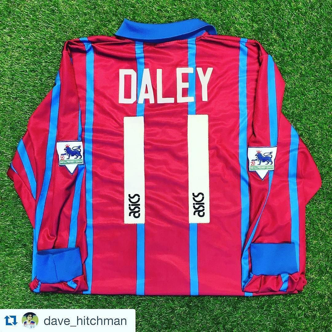 "#Repost love this 90s Aston Villa home shirt from @dave_hitchman ""New addition to my #avfc #footballshirt collection Tony Daley match worn"" #footballshirts #footballshirtcollective #footballshirtcollection #retrofootballshirt #asics #astonvilla #avfc #villa"