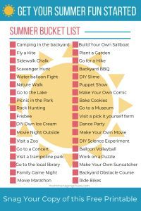 Summer Bucket List | Things to Do with Your Kids