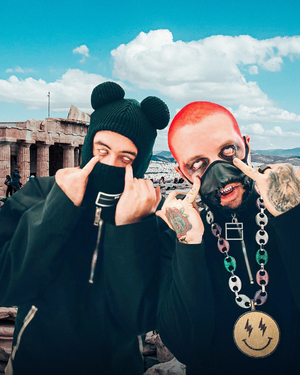 Oasis Bad Bunny J Balvin On Behance In 2020 Black Aesthetic Bunny Bunny Outfit