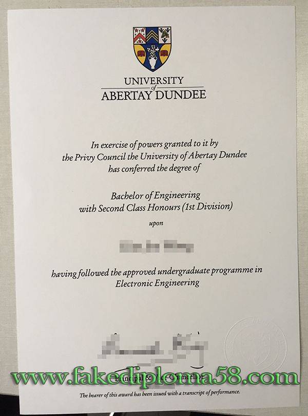university of abertay dundee dundee degree  buy fake