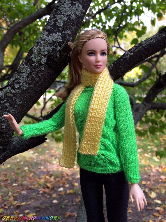 Handmade Barbie doll clothes. Hand-Knitted от OrdaliaHandwork
