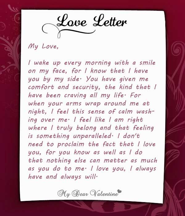 I wake up every morning, with you at my side Love Letters for - love letters