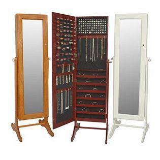 Free Standing AntiTarnish Mirrored Jewellery Cabinet by Lori