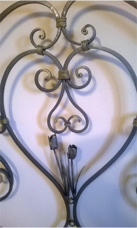 Letto in ferro battuto grigio ferro con di artisticwroughtiron, €1800.00