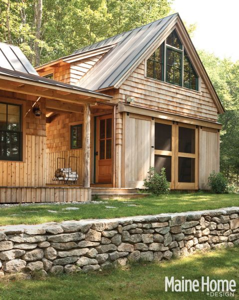 Lakeside magic maine home design also barn style doors wooden houses and cabin rh pinterest