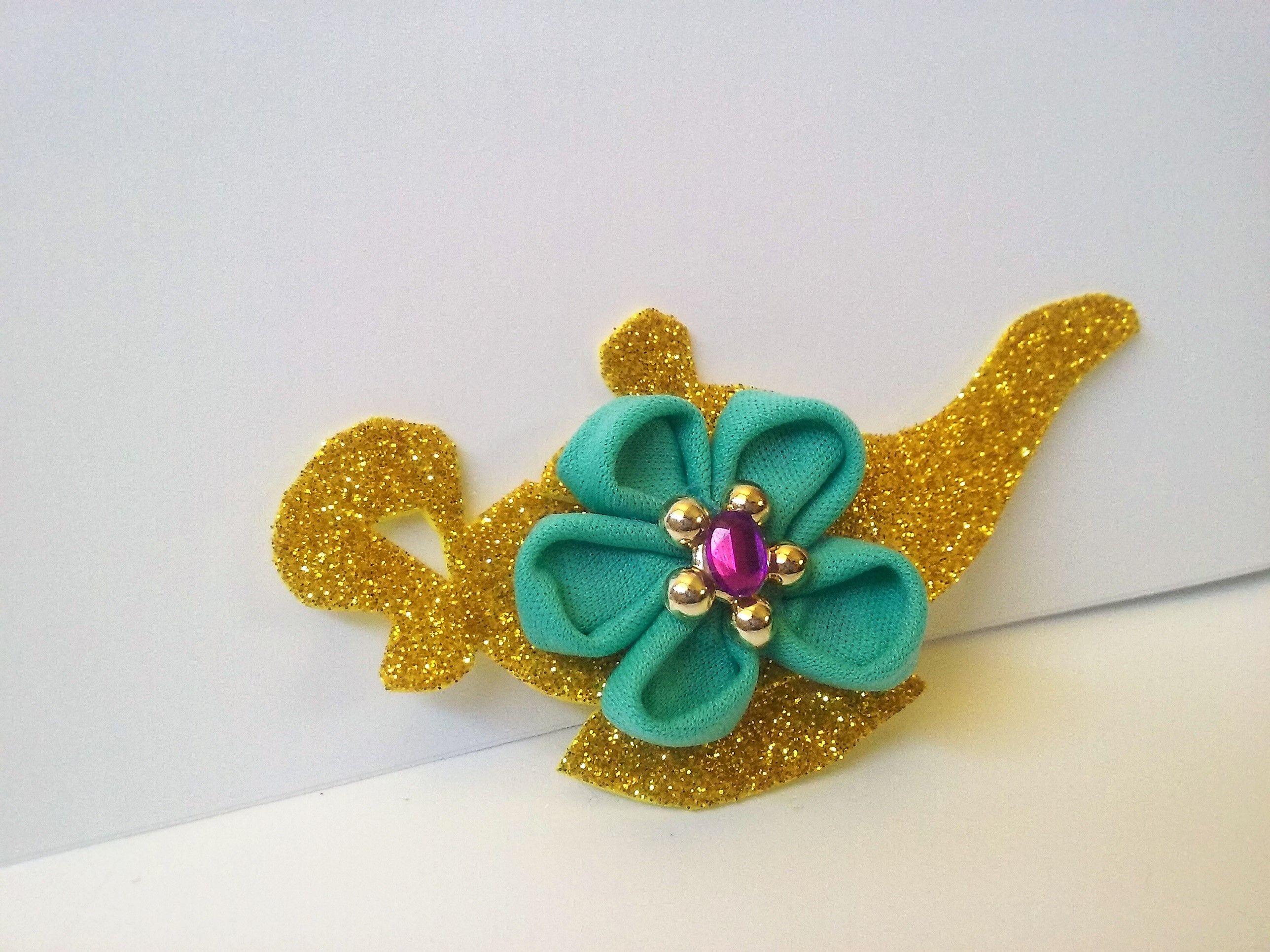 Hair Bow Jasmine Aladdin Inspired Genie Lamp Party Favor Gift