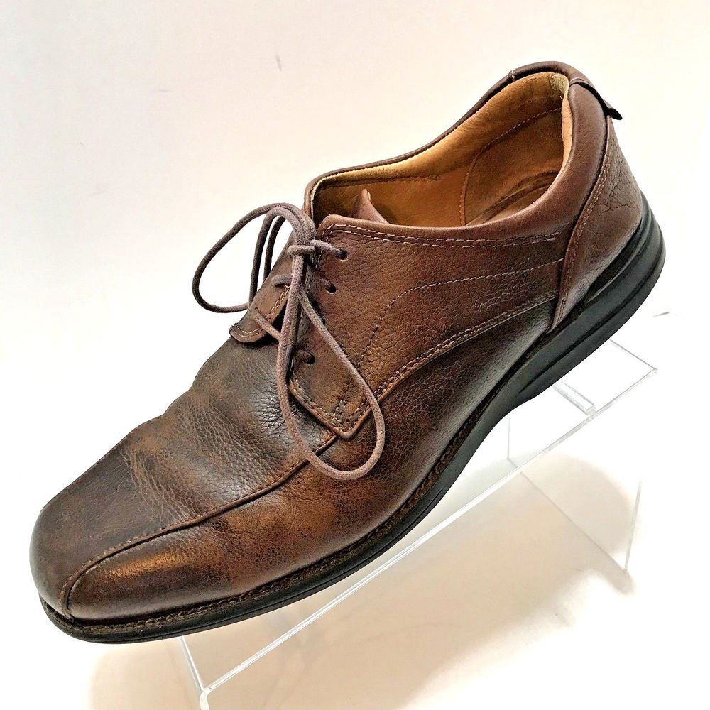 Johnston & Murphy Brown Leather Lace Up Bicycle Toe Casual Shoe Men's Size 9.5 M