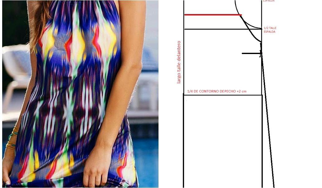 Patrón para hacer un vestido sencillo, ¡es tuyo! | accesorio | Pinterest