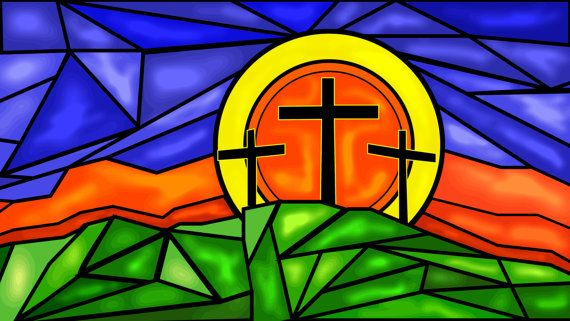 Sainted Glass Print by JohnBVisualDesign on Etsy