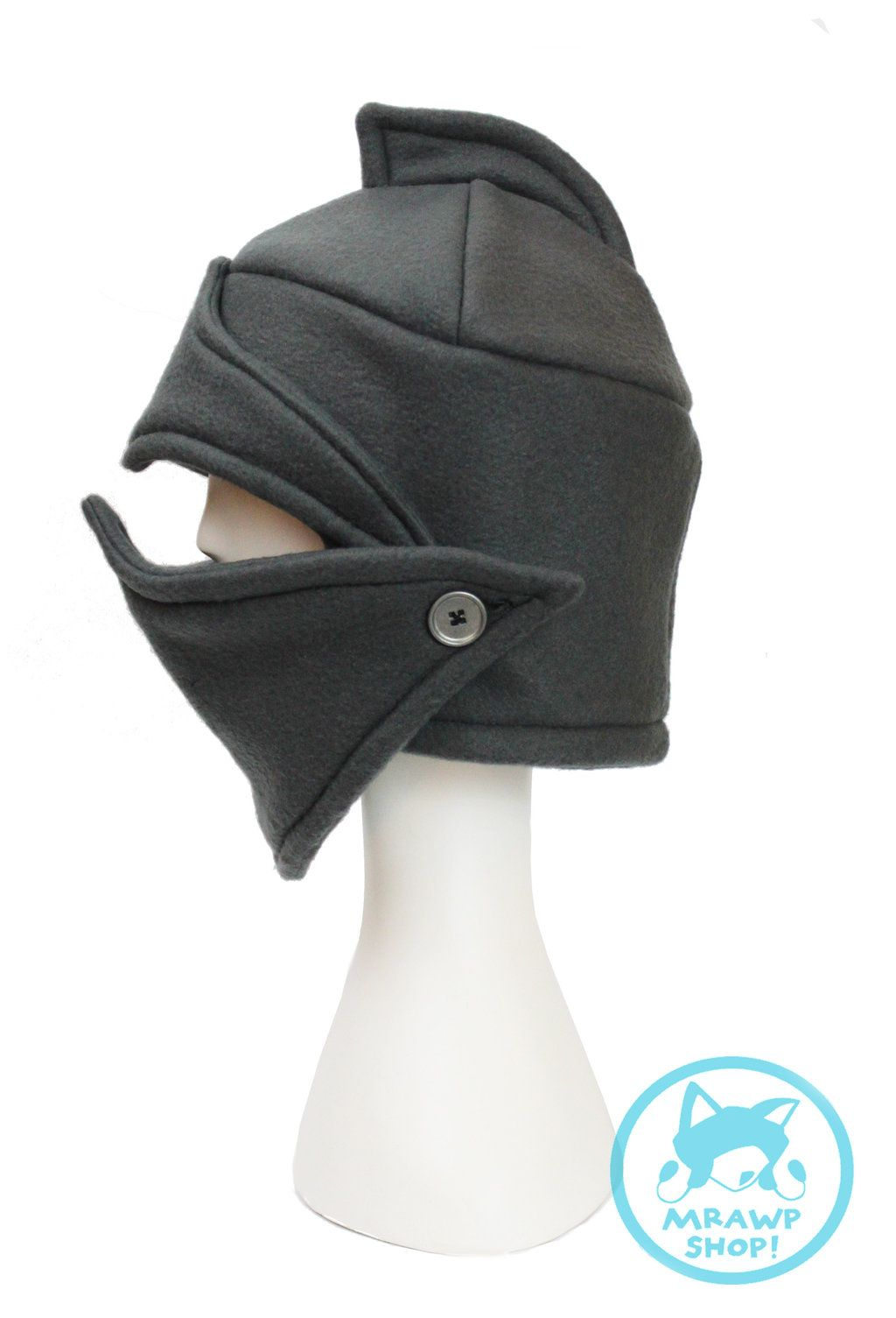 Chivalrous Gray Knight s Helmet Fleece Hat by StungunMoy  2f7e70696199