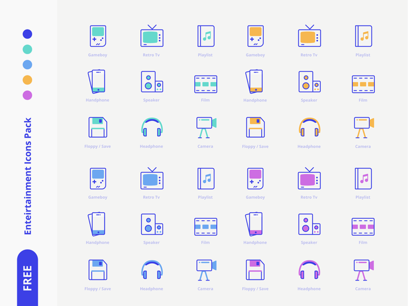 Entertainment Icons Pack Icon Pack Free Icon Packs Design Freebie