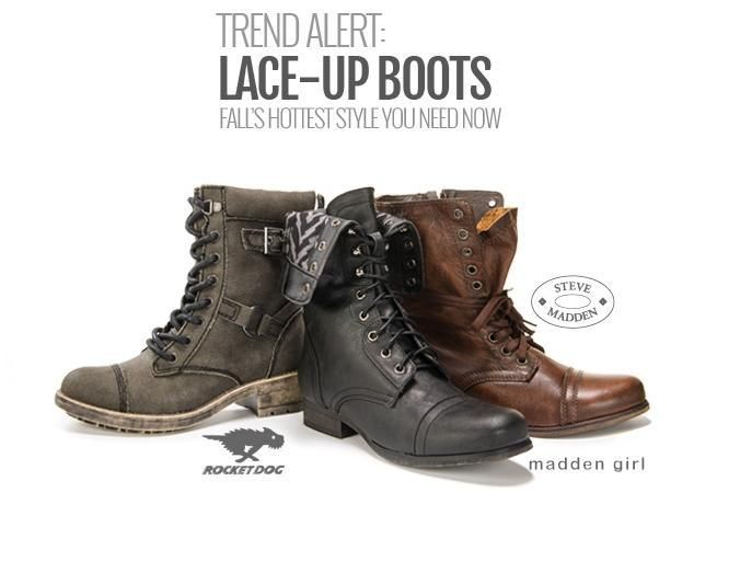 Get the look: Lace-Up Boots
