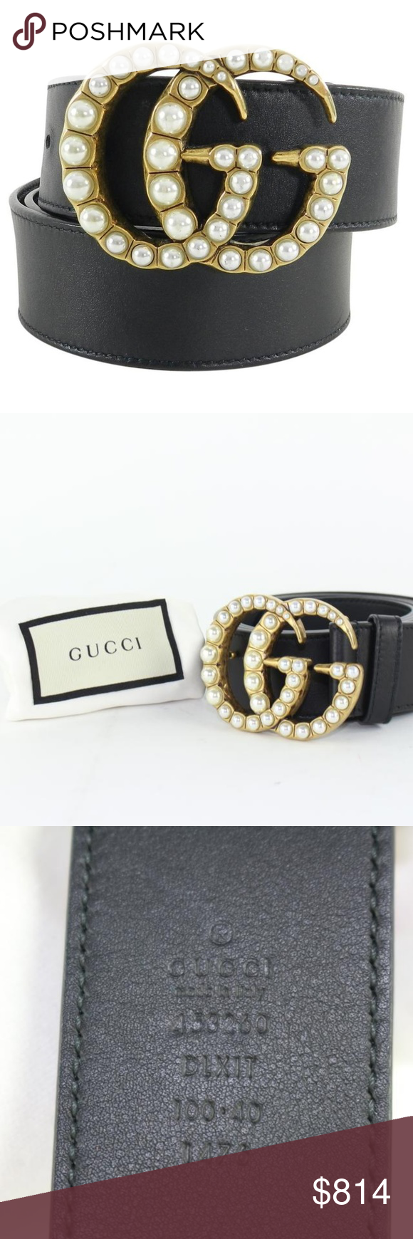 7e278c779e19 Gucci Rare Limited Pearly Marmont Pearl GG Belt Date Code/Serial Number:  453260 Made