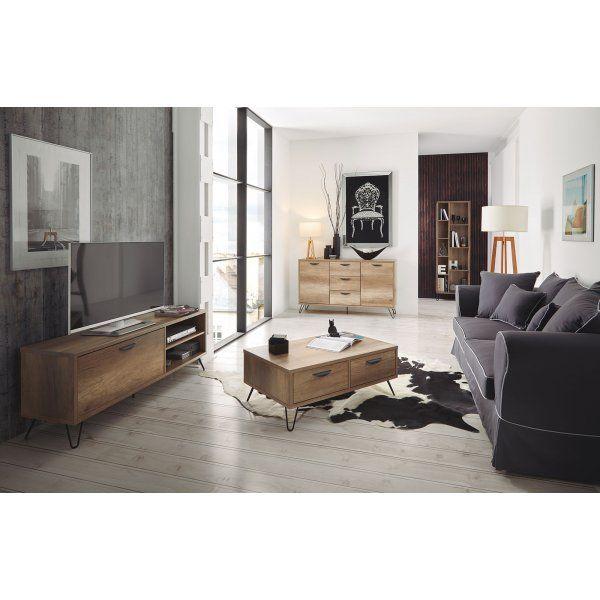 Cette table basse kansas ultra pratique avec ses 2 tiroirs Table basse avec tiroir de rangement