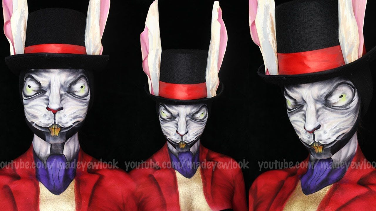 Alice Madness Returns White Rabbit Makeup Tutorial This Girl Is